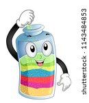 illustration of a sand bottle...   Shutterstock .eps vector #1143484853
