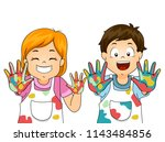 illustration of kids painter... | Shutterstock .eps vector #1143484856