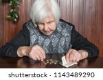 elderly 95 years old woman... | Shutterstock . vector #1143489290