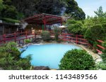 kamado jigoku or cooking pot... | Shutterstock . vector #1143489566