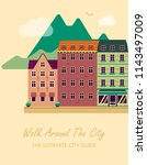 concept for city guide.... | Shutterstock .eps vector #1143497009