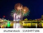 australia day fireworks in... | Shutterstock . vector #1143497186