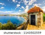 ozdere beach view in izmir... | Shutterstock . vector #1143502559