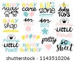 12 children s logo with...   Shutterstock .eps vector #1143510206