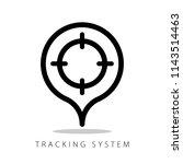 aim  target sign  tracking... | Shutterstock .eps vector #1143514463