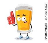 cartoon glass of beer character ...   Shutterstock .eps vector #1143515369