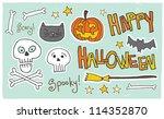 happy halloween  spooky  scary    Shutterstock . vector #114352870