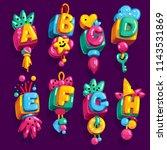 cartoon children's font cube...   Shutterstock .eps vector #1143531869