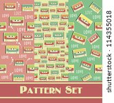 retro pattern collection.... | Shutterstock .eps vector #114355018