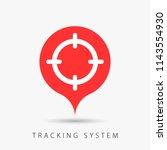 aim  target sign  tracking... | Shutterstock .eps vector #1143554930