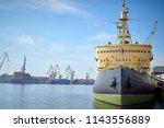 the nuclear icebreaker is...   Shutterstock . vector #1143556889