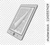 ink reader tablet mockup.... | Shutterstock .eps vector #1143557429