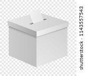 Election Box Mockup. Realistic...