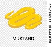 mustard icon. isometric of... | Shutterstock .eps vector #1143560423