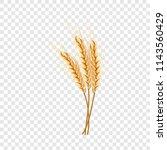 eco wheat icon. realistic...   Shutterstock .eps vector #1143560429