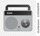 Grey Portable Radio Mockup....