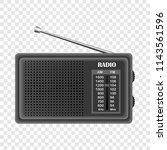 modern fm radio mockup.... | Shutterstock .eps vector #1143561596