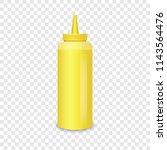 mustard bottle mockup.... | Shutterstock .eps vector #1143564476
