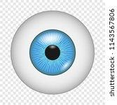 eyesight icon. realistic... | Shutterstock .eps vector #1143567806