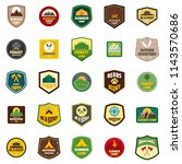 scout badge emblem stamp icons... | Shutterstock .eps vector #1143570686
