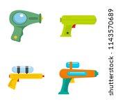 squirt gun water pistol game... | Shutterstock .eps vector #1143570689