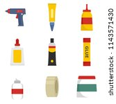 glue stick adhesive icons set.... | Shutterstock .eps vector #1143571430