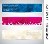 set of horizontal christmas... | Shutterstock .eps vector #114357190