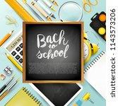 back to school design template... | Shutterstock .eps vector #1143573206