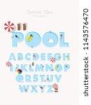 pool swimming pool beach summer ...   Shutterstock .eps vector #1143576470