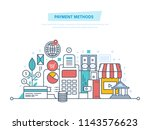 methods and forms of payment ... | Shutterstock . vector #1143576623
