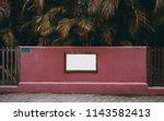 blank information banner on the ... | Shutterstock . vector #1143582413