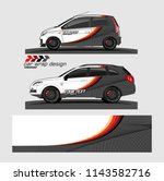 car wrap designs vector. modern ... | Shutterstock .eps vector #1143582716