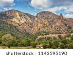 french ancient city in provence....   Shutterstock . vector #1143595190