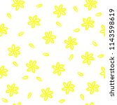 yellow flowers vector seamless... | Shutterstock .eps vector #1143598619