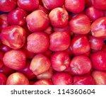 Crunchy Red Apples Closeup ...