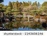 Japanese garden in himeji