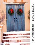 Blue Holiday Gate Entryway In...