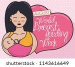 happy smiling mother... | Shutterstock .eps vector #1143616649