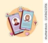 online dating design | Shutterstock .eps vector #1143621056