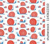 vector cute seamless pattern... | Shutterstock .eps vector #1143622310