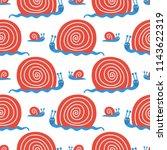 vector cute seamless pattern... | Shutterstock .eps vector #1143622319