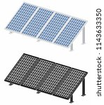 solar panel without outline and ... | Shutterstock .eps vector #1143633350