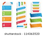 colorful web stickers  tags and ... | Shutterstock .eps vector #114363520