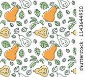 pear seamless pattern. hand... | Shutterstock .eps vector #1143644930