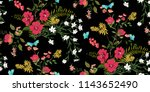 seamless floral pattern in... | Shutterstock .eps vector #1143652490