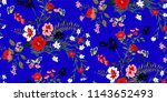 seamless floral pattern in... | Shutterstock .eps vector #1143652493
