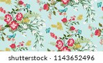 seamless floral pattern in... | Shutterstock .eps vector #1143652496