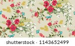 seamless floral pattern in... | Shutterstock .eps vector #1143652499