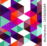 multicolored triangles abstract ... | Shutterstock .eps vector #1143656369