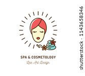 cosmetic spa therapy icon ... | Shutterstock .eps vector #1143658346